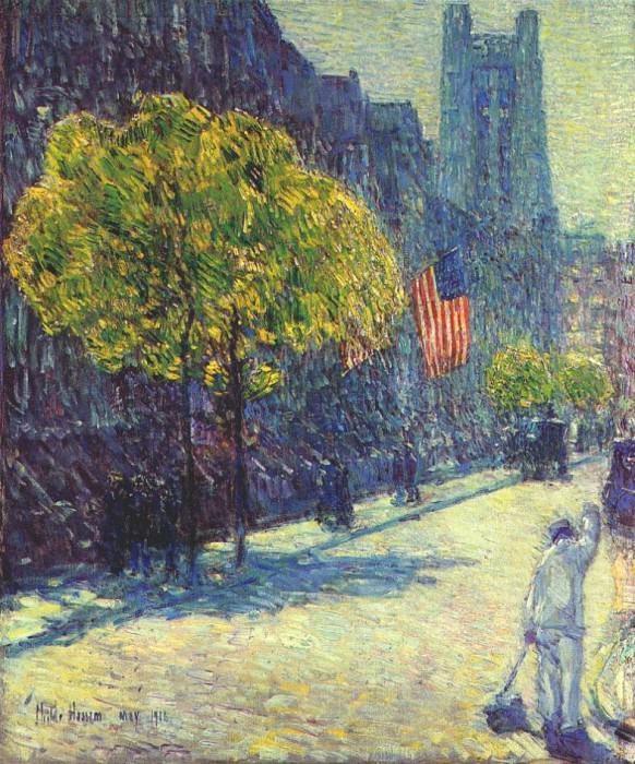 Совсем рядом с авеню, пятьдесят третья улица, май 1916. Чайлд Фредерик Хассам