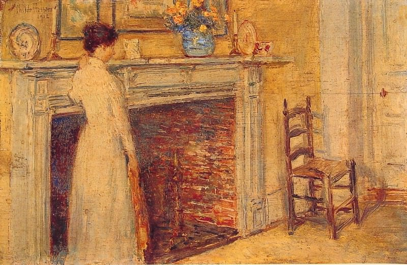 The Fireplace. Childe Frederick Hassam