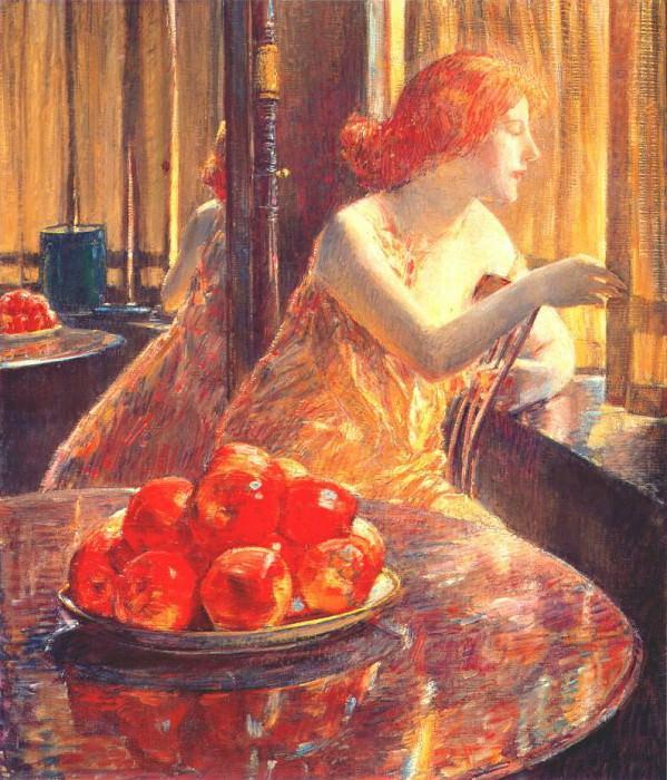 Отражения (Китти Хьюз), 1917. Чайлд Фредерик Хассам