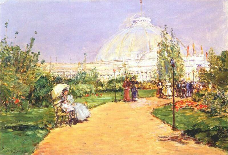 Садоводческий павильон, Всемирная выставка в память Колумба, Чикаго, 1893. Чайлд Фредерик Хассам
