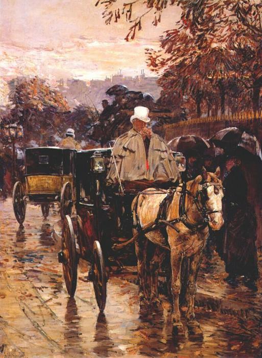 Экипаж на улице Бонапарта, 1888. Чайлд Фредерик Хассам