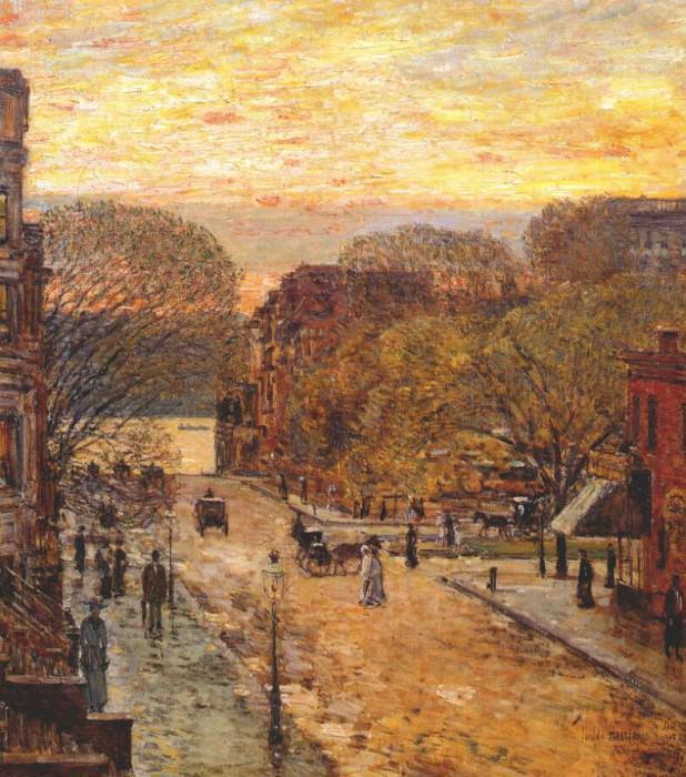 Весна на западной 78-ой улице, 1905. Чайлд Фредерик Хассам