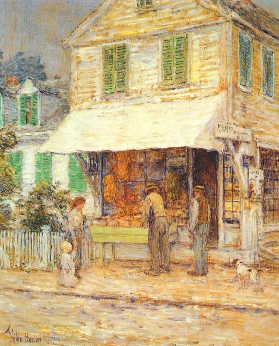 Бакалейная лавка в Провинстауне, 1900. Чайлд Фредерик Хассам