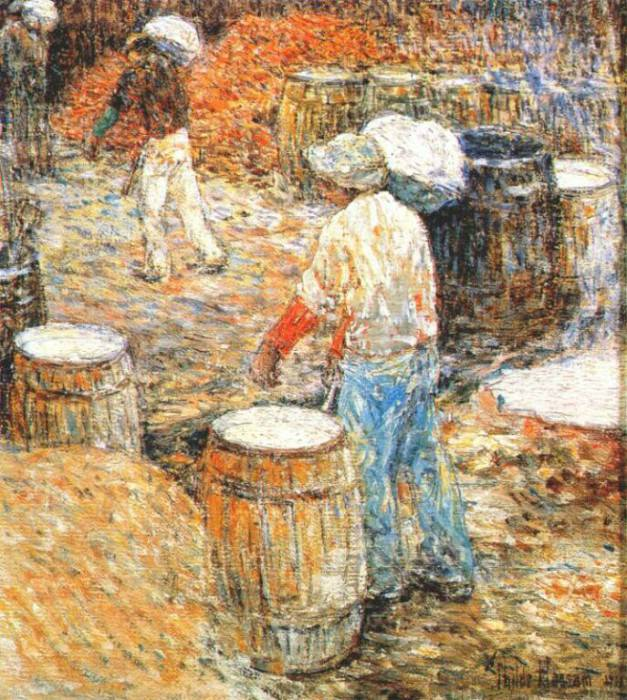 new york hod carriers 1900. Childe Frederick Hassam