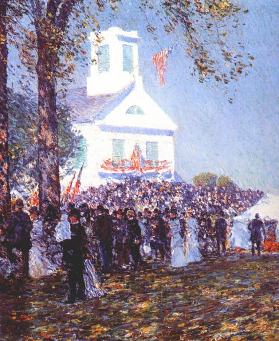 Местная ярмарка, Новая Англия, 1890. Чайлд Фредерик Хассам
