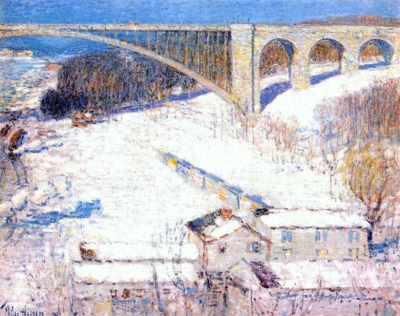 Мост, высоко поднятый над землей, 1922. Чайлд Фредерик Хассам