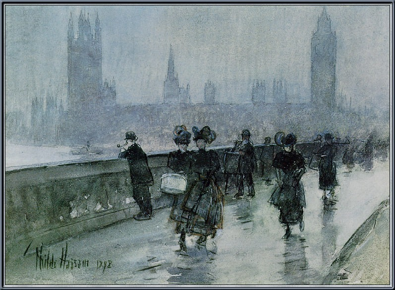 Вестминстерский мост. Чайлд Фредерик Хассам