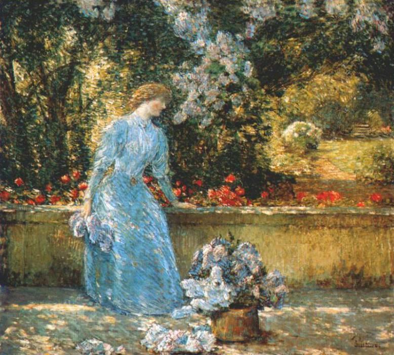 Дама в парке (в саду), 1897. Чайлд Фредерик Хассам