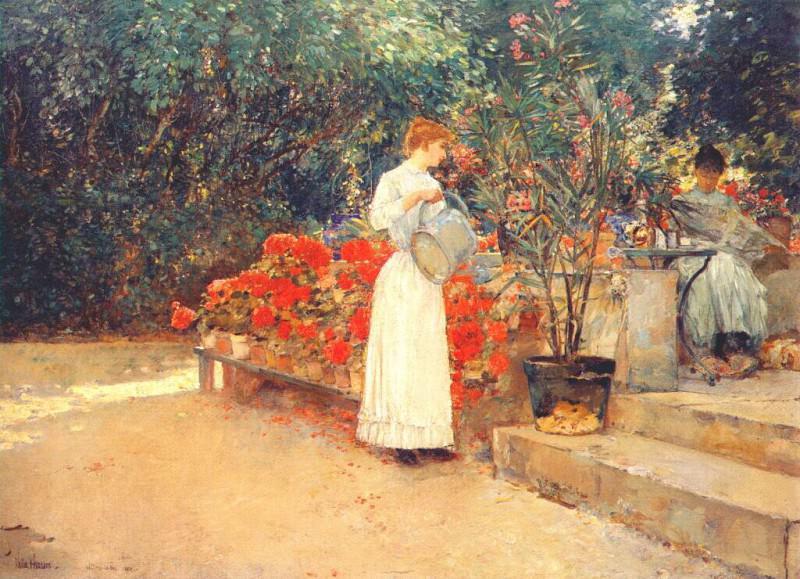 После завтрака, 1887. Чайлд Фредерик Хассам