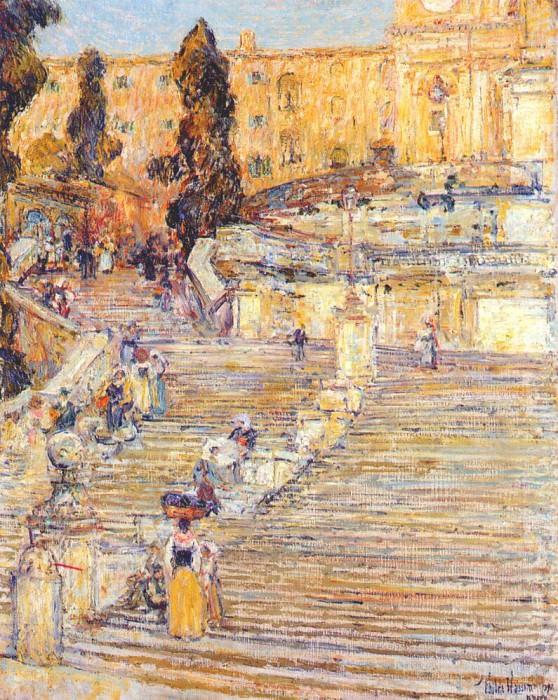 Испанская лестница, Рим, 1897. Чайлд Фредерик Хассам