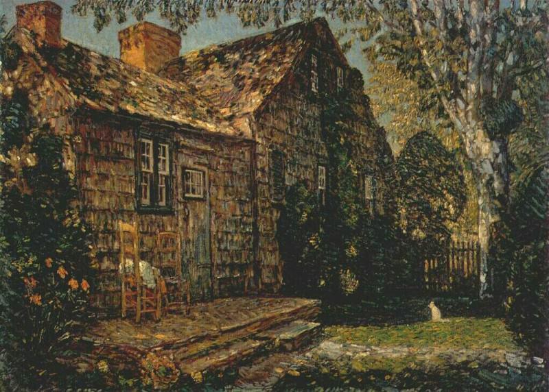 Маленький старый коттедж, Египетский переулок, Ист-Хэмптон, 1917. Чайлд Фредерик Хассам