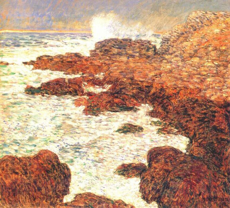 seaweed and surf, appledore 1912. Childe Frederick Hassam