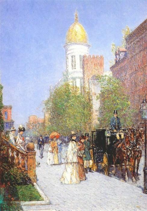 Весеннее утро, ок.1890-91. Чайлд Фредерик Хассам