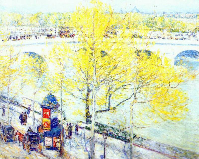 Королевский мост, Париж, 1897. Чайлд Фредерик Хассам