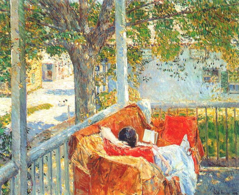 Кушетка на веранде, Кос-коб, 1914. Чайлд Фредерик Хассам