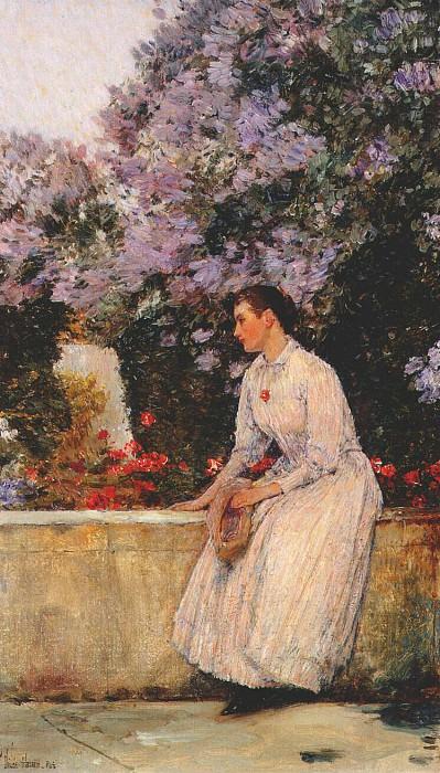 В саду, ок.1888-89. Чайлд Фредерик Хассам
