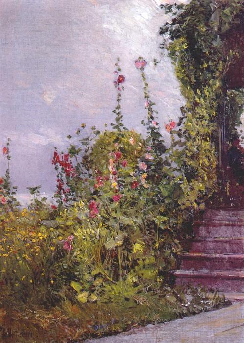 Мальвы в саду, Эплдор, 1890-93. Чайлд Фредерик Хассам