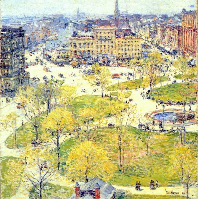 Юнион-сквер весной, 1896. Чайлд Фредерик Хассам