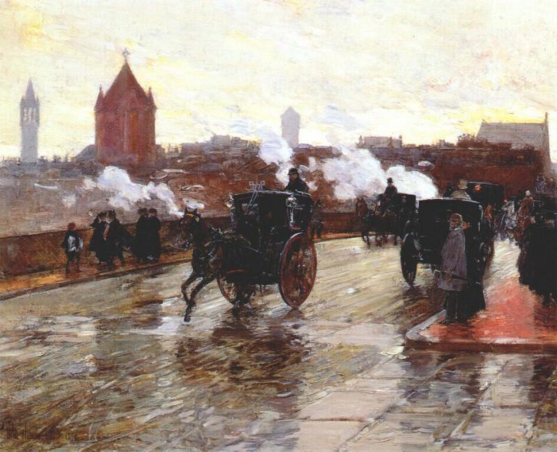 Очистительный закат (угол Беркли-стрит и Коламбус-авеню), 1890. Чайлд Фредерик Хассам