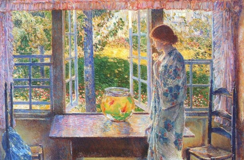 Окно с золотыми рыбками, 1916. Чайлд Фредерик Хассам