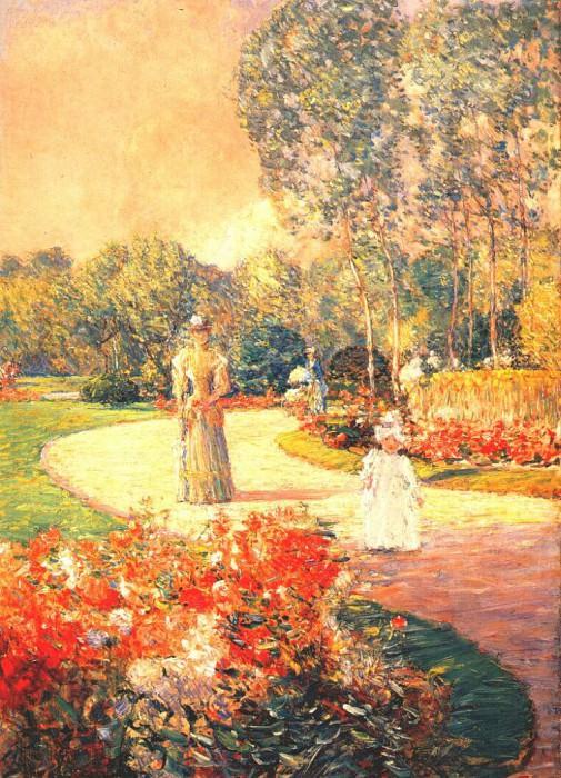 Парк Монсо (Париж), 1897. Чайлд Фредерик Хассам