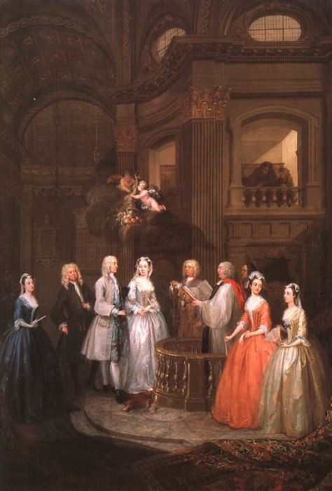 The Wedding of Stephen Beckingham & Mary Cox 1729 3. William Hogarth