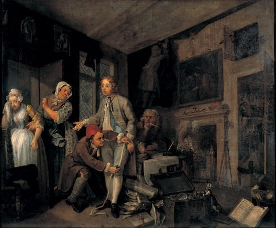 A Rakes Progress. William Hogarth