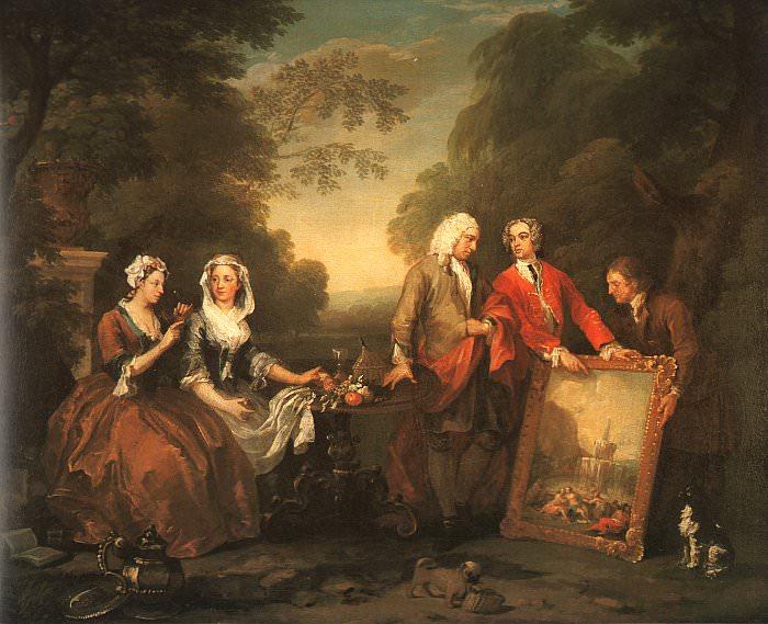 The Fountaine Family 1730 oil on canvas Philadelp. William Hogarth
