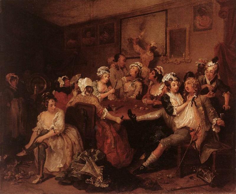 В таверне, 1733-34. Уильям Хогарт