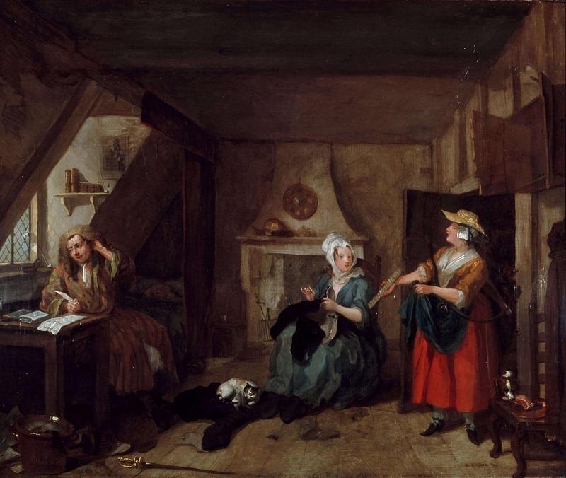 The Distressed Poet. William Hogarth