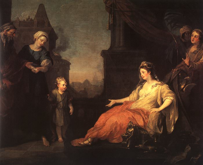 Моисей перед дочерью фараона, 1746. Уильям Хогарт
