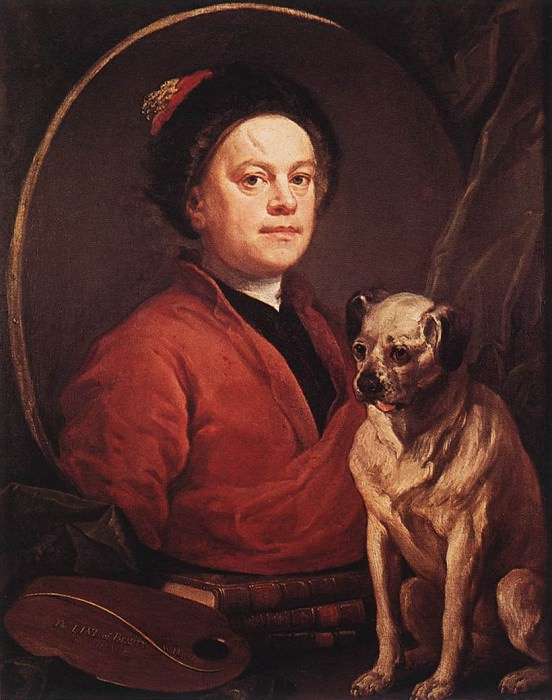 The Painter and his Pug. William Hogarth