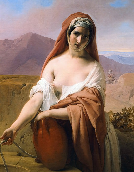 Rebecca at the Well. Francesco Hayez