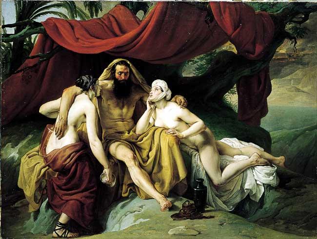 Lot and His Daughters. Francesco Hayez
