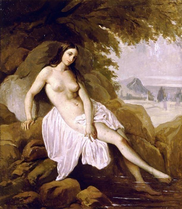 Купальщица в пейзаже. Франческо Айец