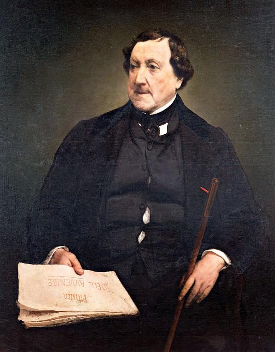 Сomposer Gioachino Rossini. Francesco Hayez