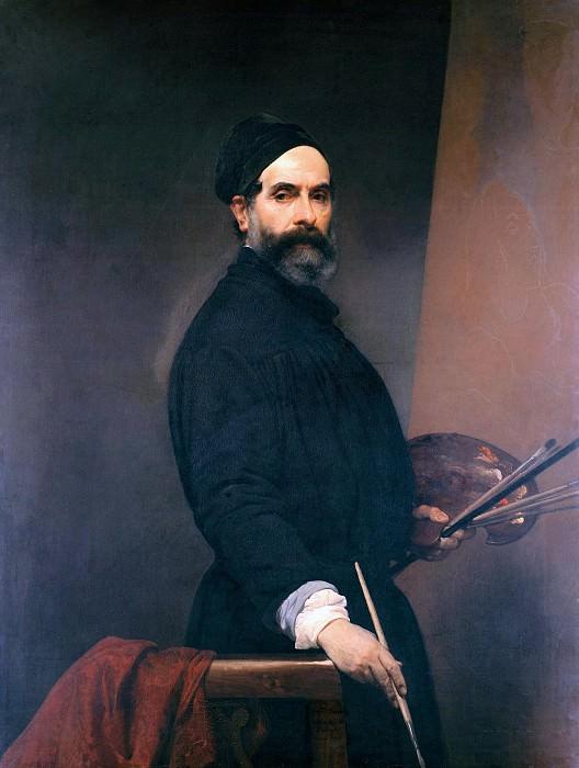 Self-portrait at age 57. Francesco Hayez
