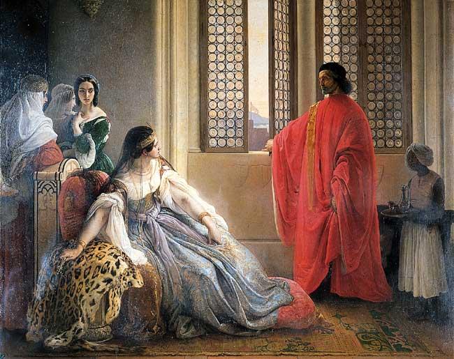 Катерина Корнаро, свергнутая с трона Кипра. Франческо Айец