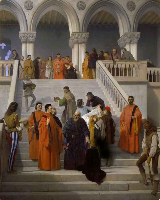 The Last Moments of Doge Marin Faliero. Francesco Hayez
