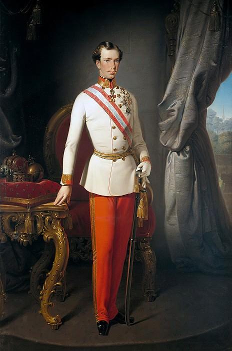 Franz Joseph I (1830-1916), Emperor of Austria. Francesco Hayez
