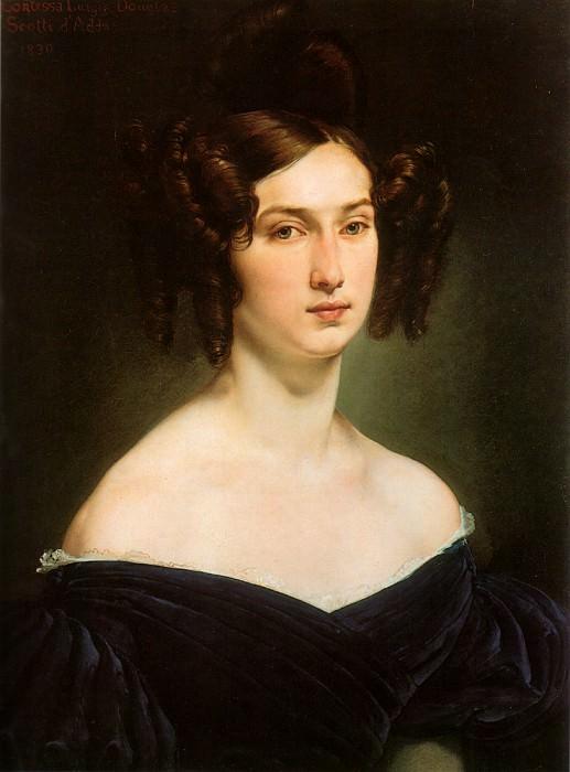 ritratto della contessa luigia douglas scotti d adda. Francesco Hayez