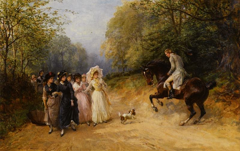 The Unwanted Chaperone 1887. Heywood Hardy