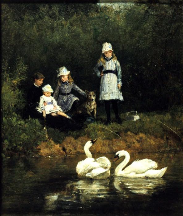 Watching the Swans. Heywood Hardy