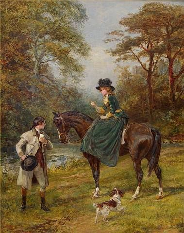 The Village Postman & The Rendezvous Pair. Heywood Hardy