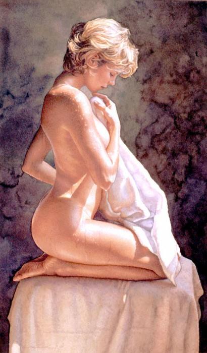 After The Bath. Steve Hanks