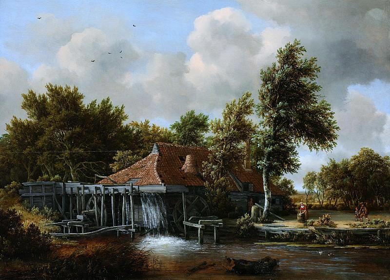 Майндер Хоббема - Водяная мельница. Meindert Hobbema (A Watermill)