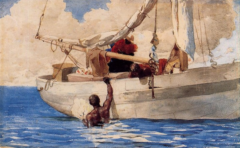 The Coral Divers. Winslow Homer