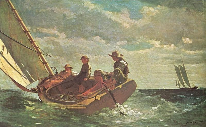 Ветер крепчает (1876). Уинслоу Хомер