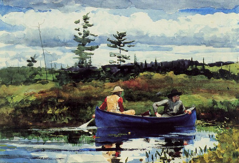 The Blue Boat. Winslow Homer