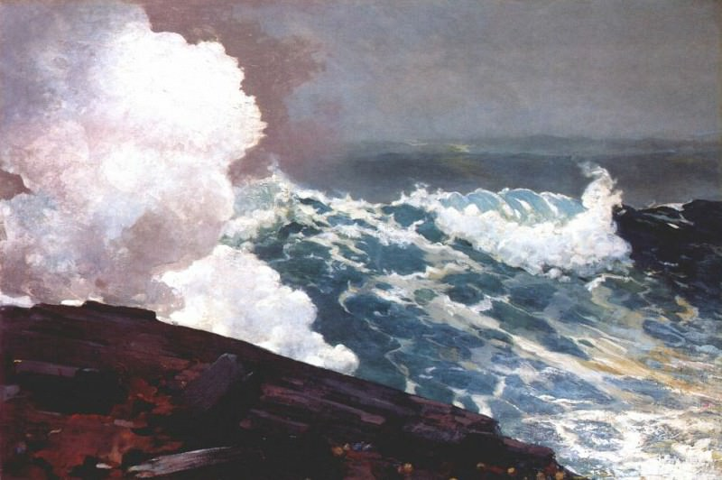 northeaster 1895. Winslow Homer